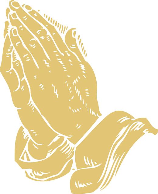 Ilustração: Mãos em Oração